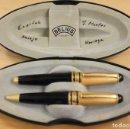 Estilográficas antiguas, bolígrafos y plumas: JUEGO DE PLUMA ESTILOGRAFICA Y BOLIGRAFO BELIUS. ALEMAN. EN ESTUCHE ORIGINAL. Lote 158541652