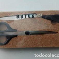 Estilográficas antiguas, bolígrafos y plumas: JUEGO TIJERAS Y ABRECARTAS, ARTES. Lote 158728174