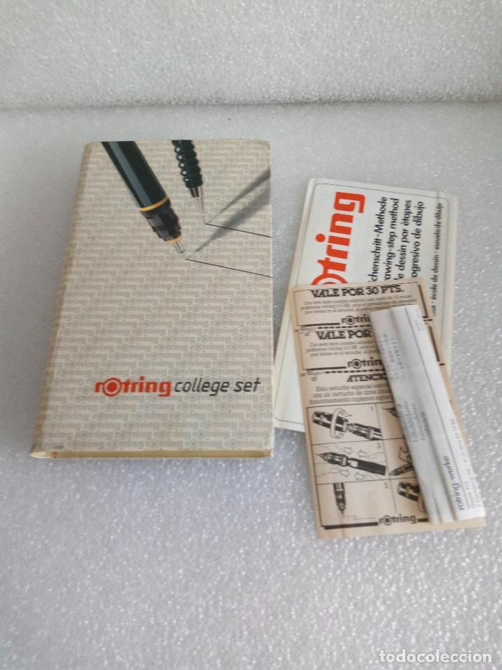 Estilográficas antiguas, bolígrafos y plumas: Rotring college set sin uso - Foto 2 - 158942246