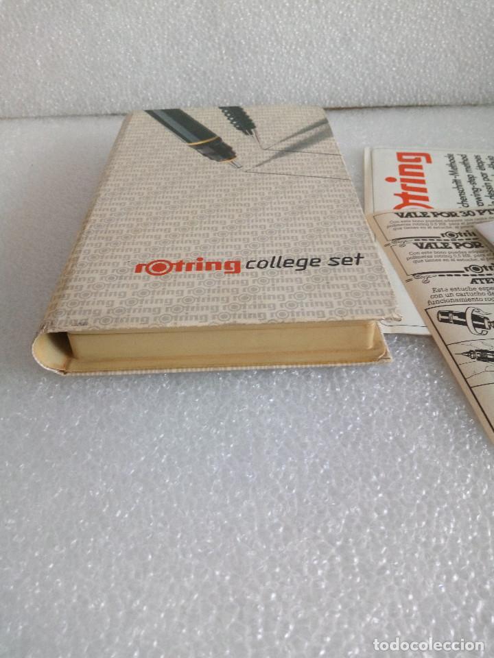 Estilográficas antiguas, bolígrafos y plumas: Rotring college set sin uso - Foto 3 - 158942246