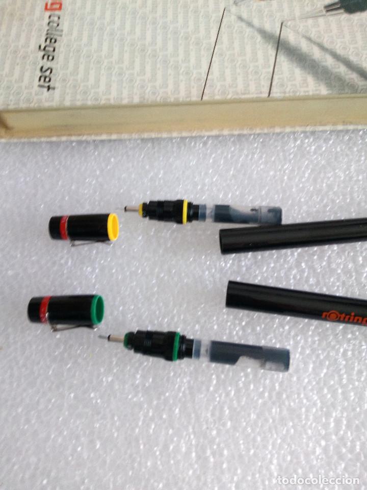Estilográficas antiguas, bolígrafos y plumas: Rotring college set sin uso - Foto 7 - 158942246