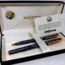 Estilográficas antiguas, bolígrafos y plumas: CONJUNTO INOXCROM SIN ESTRENAR AÑOS 70 ORO 23'6 K . Lote 159554382