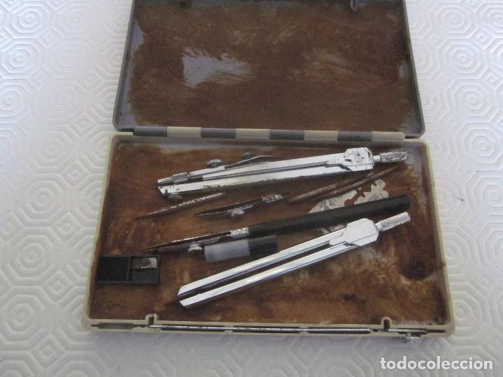 Estilográficas antiguas, bolígrafos y plumas: 2 cajas de compases EDE - Foto 8 - 159763218
