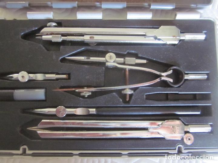 Estilográficas antiguas, bolígrafos y plumas: 2 cajas de compases EDE - Foto 10 - 159763218