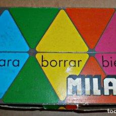 Estilográficas antiguas, bolígrafos y plumas: CAJA GOMAS MILAN 3X3 ANIMALES. Lote 159912850
