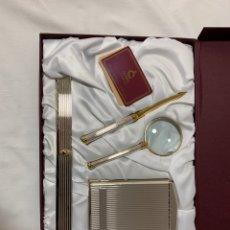 Estilográficas antiguas, bolígrafos y plumas: CONJUNTO ESCRITORIO DE ORFEBRERÍA CUNILL. Lote 162499610