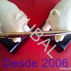 Estilográficas antiguas, bolígrafos y plumas: TUBAL ÉLYSÉE ART DECÓ BOLIGRAFO 24/12 KARAT GOLD ELECTROPLATED. Lote 163483442