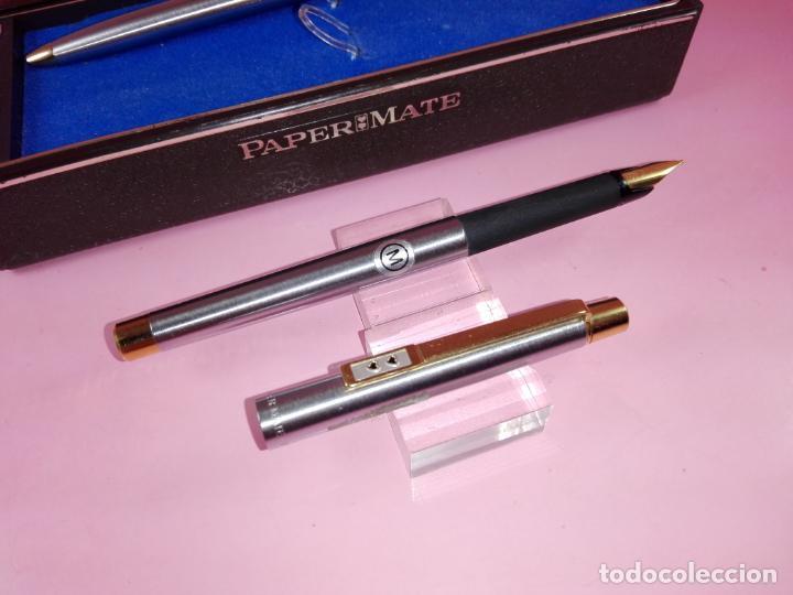 Estilográficas antiguas, bolígrafos y plumas: N9751-juego-paper mate dinasty-pluma+bolígrafo-nuevo-cajas-ver fotos - Foto 10 - 163549966