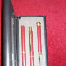 Estilográficas antiguas, bolígrafos y plumas: CAJA DE BOLI,BOLILAPIZ Y ABRECARTAS. Lote 165056904