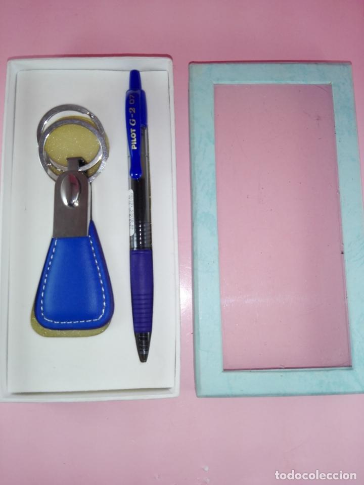 Estilográficas antiguas, bolígrafos y plumas: N4841-juego-bolígrafo pilot+llavero-azules-nuevo-CAJA-ver fotos - Foto 2 - 165689742