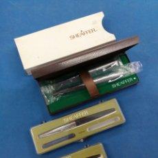 Estilográficas antiguas, bolígrafos y plumas: LOTE 3 ESTUCHES DE SHEAFFER, MODELO 440 ,240,214C ,AÑOS 1960-70. Lote 166548896