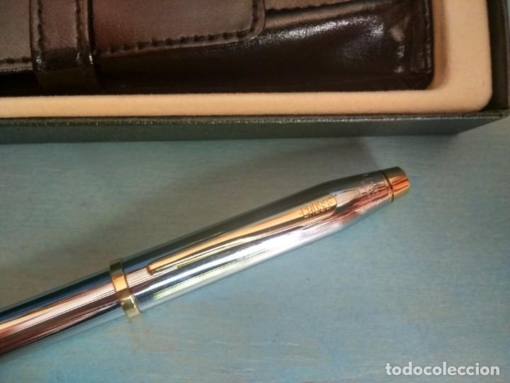 Estilográficas antiguas, bolígrafos y plumas: JUEGO DE PLUMA Y BOLÍGRAFO CROSS CENTURY II MEDALIST CROMO - Foto 5 - 167697820