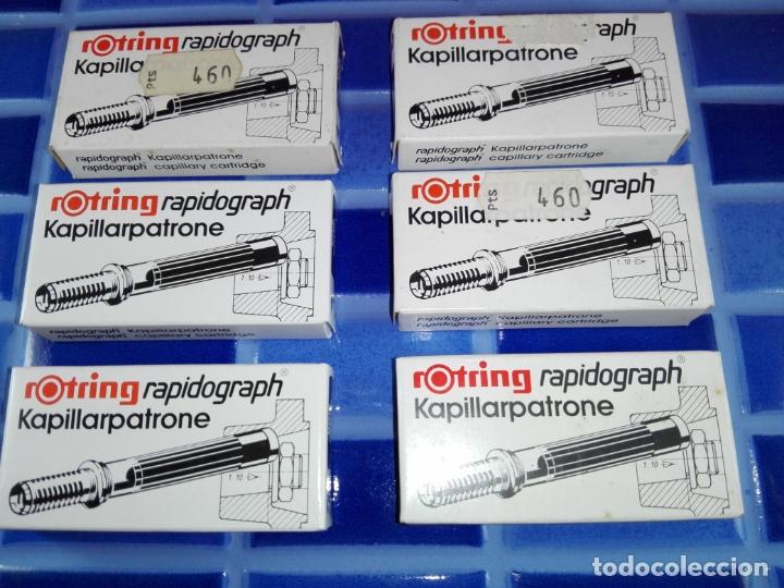 Estilográficas antiguas, bolígrafos y plumas: LOTE 6 CAJAS-ROTRING RADIOGRAPH KAPILLARPATRONE-NOS-VER FOTOS - Foto 4 - 169017648