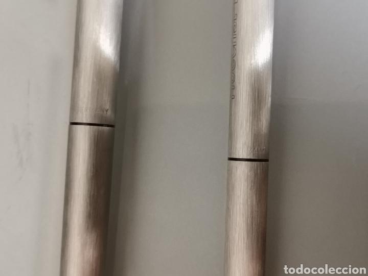 Estilográficas antiguas, bolígrafos y plumas: ANTIGUO CONJUNTO PELIKAN ACERO PUBLICIDAD HOECHST MUY RARO - Foto 10 - 170369912