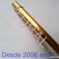 Estilográficas antiguas, bolígrafos y plumas: TUBAL MUST DE CARTIER BOLIGRAFO PEN DORADO NUMERADO . Lote 170442872