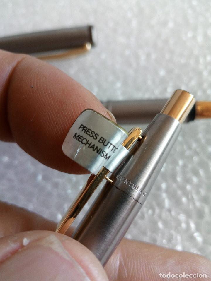 Estilográficas antiguas, bolígrafos y plumas: Estuche montblanc slimline oro 585 pluma y boligrafo sin uso slim line - Foto 6 - 171703035