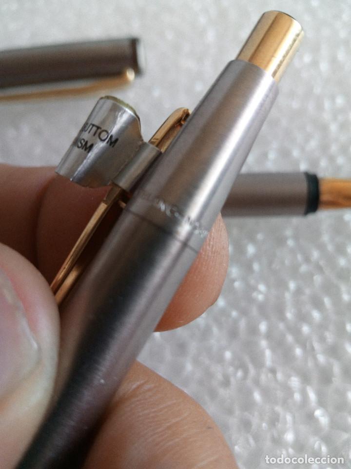 Estilográficas antiguas, bolígrafos y plumas: Estuche montblanc slimline oro 585 pluma y boligrafo sin uso slim line - Foto 7 - 171703035