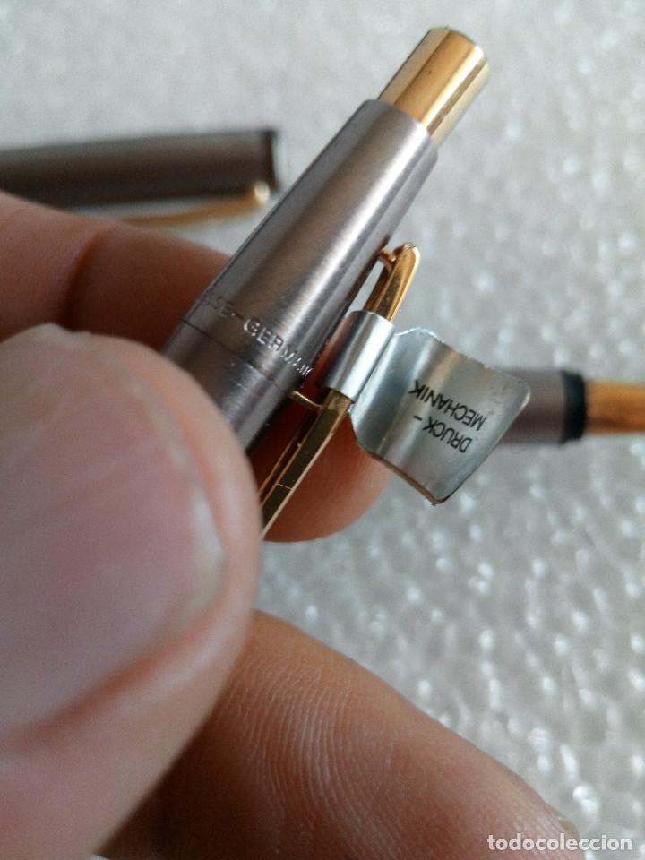 Estilográficas antiguas, bolígrafos y plumas: Estuche montblanc slimline oro 585 pluma y boligrafo sin uso slim line - Foto 9 - 171703035