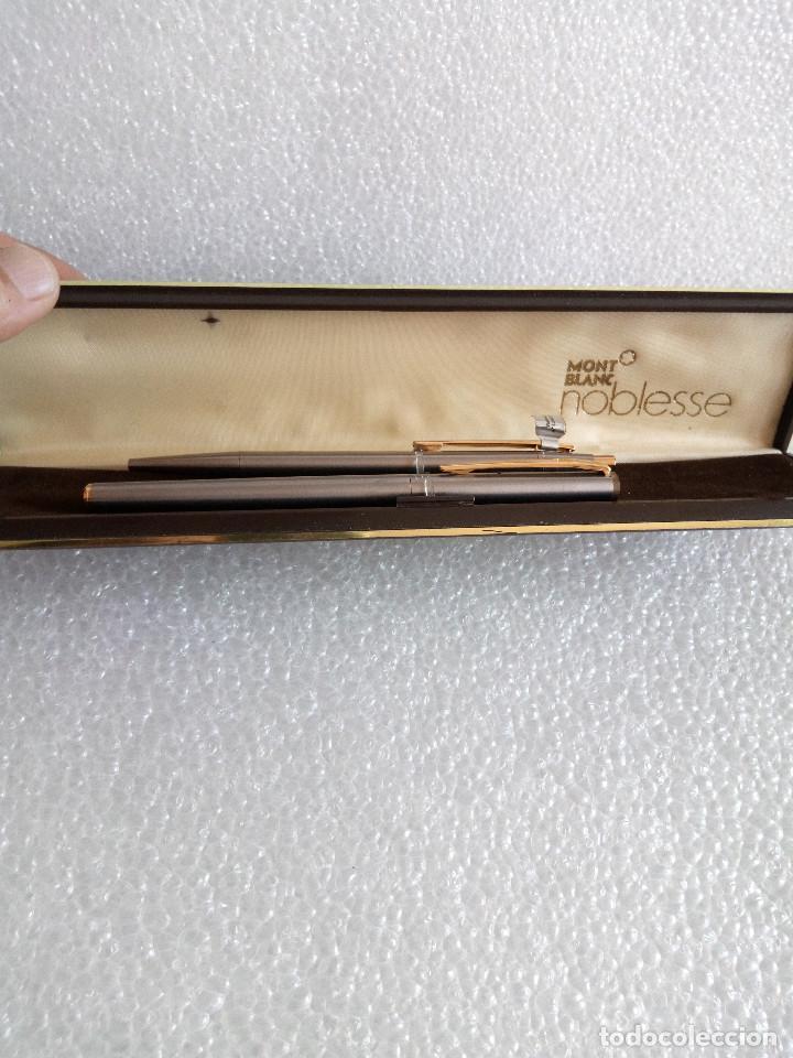 Estilográficas antiguas, bolígrafos y plumas: Estuche montblanc slimline oro 585 pluma y boligrafo sin uso slim line - Foto 14 - 171703035
