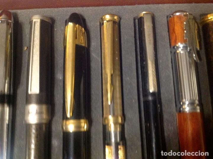 Estilográficas antiguas, bolígrafos y plumas: Colección De 50 Plumas Estilográficas Con Vitrina Expositor - Foto 9 - 172067113