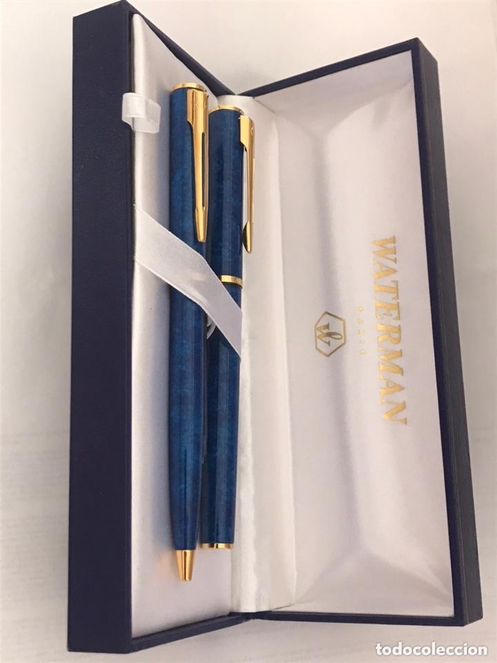 Estilográficas antiguas, bolígrafos y plumas: Juego pluma estilográfica y bolígrafo WATERMAN APOSTROPHE made en france sin estrenar para ASEPEYO - Foto 2 - 174020510