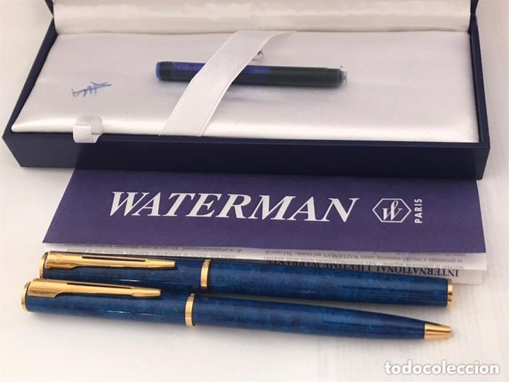 Estilográficas antiguas, bolígrafos y plumas: Juego pluma estilográfica y bolígrafo WATERMAN APOSTROPHE made en france sin estrenar para ASEPEYO - Foto 5 - 174020510