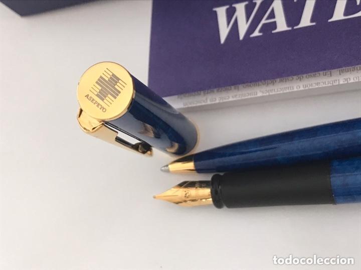 Estilográficas antiguas, bolígrafos y plumas: Juego pluma estilográfica y bolígrafo WATERMAN APOSTROPHE made en france sin estrenar para ASEPEYO - Foto 8 - 174020510
