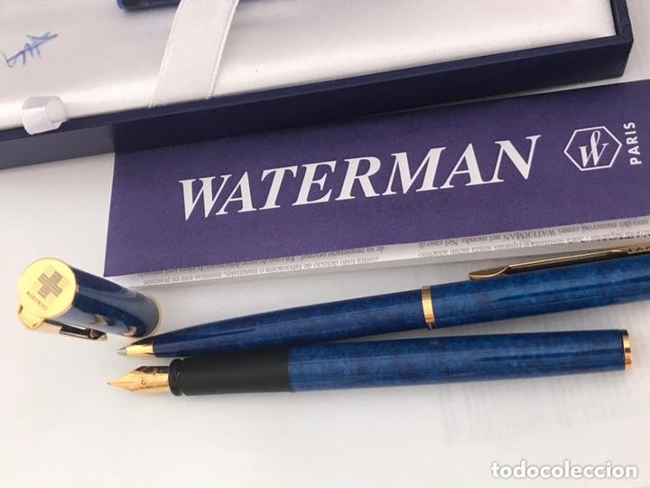 Estilográficas antiguas, bolígrafos y plumas: Juego pluma estilográfica y bolígrafo WATERMAN APOSTROPHE made en france sin estrenar para ASEPEYO - Foto 9 - 174020510