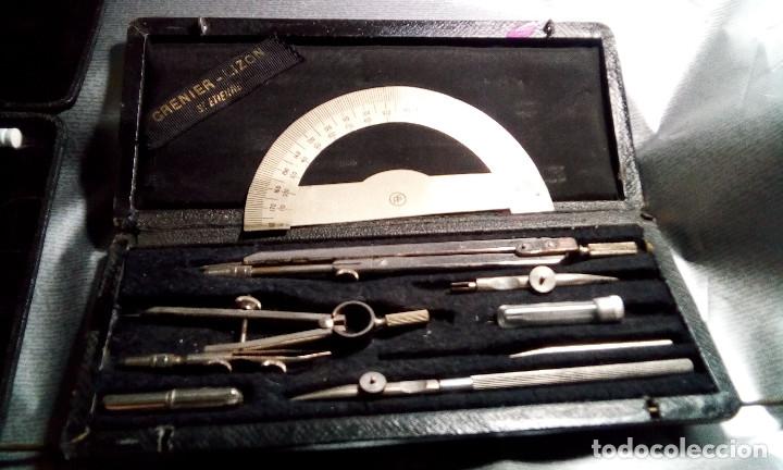 Estilográficas antiguas, bolígrafos y plumas: 2 JUEGO COMPAS ANTIGUOS - Foto 3 - 174022463