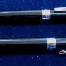 Estilográficas antiguas, bolígrafos y plumas: CONJUNTO BOLÍGRAFO Y ROLLER MARCA SHEAFFER NEGRO. Lote 174289650