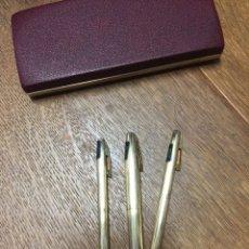 Estilográficas antiguas, bolígrafos y plumas: SHEAFFER IMPERIAL GOLD 777 FINE AÑOS 70 SIN USO. Lote 175173882