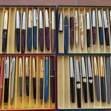 Estilográficas antiguas, bolígrafos y plumas: LOTE CON PLUMAS Y LÁPICES ANTIGUO STOCK DE TIENDA - LAMY, PELIKAN, INOXCROM, SUPER T, WATERMAN.... Lote 175448655