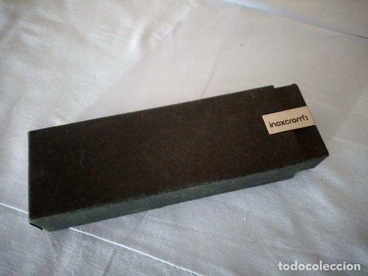 Estilográficas antiguas, bolígrafos y plumas: INOXCROM PLUMA,en estuche original. - Foto 5 - 175611788