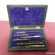 Estilográficas antiguas, bolígrafos y plumas: CAJA COMPASES..XIX. Lote 175751587