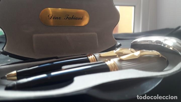 Estilográficas antiguas, bolígrafos y plumas: ESTUCHE DINO FABIANI, BOLÍGRAFO Y PLUMA CON PUNTA DE IRIDIO. NUEVO. - Foto 5 - 175814813