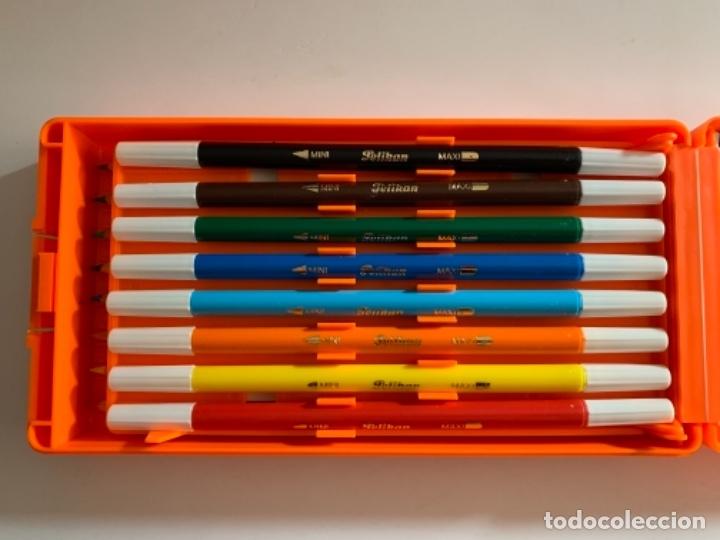 Estilográficas antiguas, bolígrafos y plumas: ESTUCHE PLUMIER PELIKAN AÑOS 80 EGB NUEVO 2 PISOS - Foto 4 - 176440065