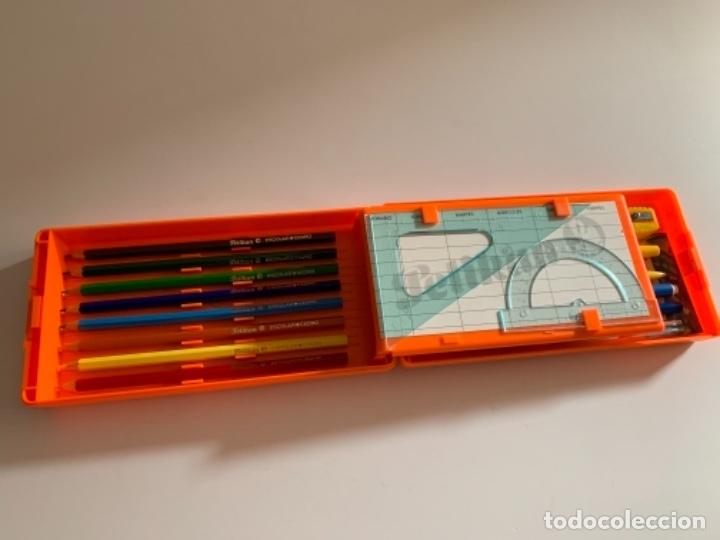 Estilográficas antiguas, bolígrafos y plumas: ESTUCHE PLUMIER PELIKAN AÑOS 80 EGB NUEVO 2 PISOS - Foto 5 - 176440065