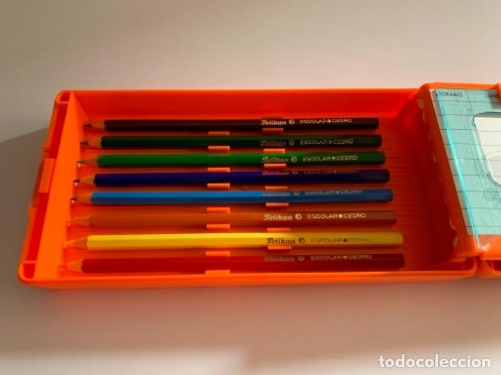 Estilográficas antiguas, bolígrafos y plumas: ESTUCHE PLUMIER PELIKAN AÑOS 80 EGB NUEVO 2 PISOS - Foto 6 - 176440065