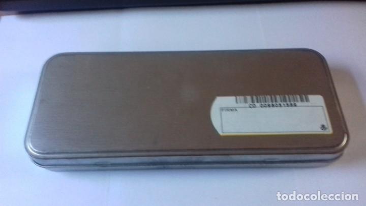 Estilográficas antiguas, bolígrafos y plumas: Conjunto de boligrafo y navaja con madera natural nunca usado - Foto 10 - 177034178
