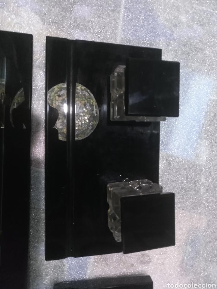 Estilográficas antiguas, bolígrafos y plumas: Juego de escritorio cristal sin uso - Foto 2 - 177823619