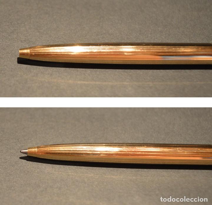 Estilográficas antiguas, bolígrafos y plumas: PLUMA ESTILOGRÁFICA Y BOLIGRAFO SHEAFFER IMPERIAL FINE USA CHAPADO EN ORO - Foto 11 - 177860464