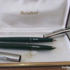 Estilográficas antiguas, bolígrafos y plumas: @ ESTUCHE @ PLUMAS ESTILOGRAFICAS @. Lote 177873422
