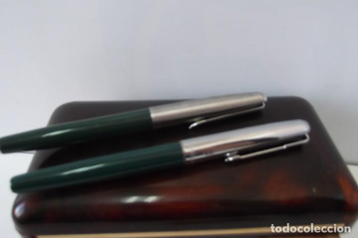 Estilográficas antiguas, bolígrafos y plumas: @ ESTUCHE @ PLUMAS ESTILOGRAFICAS @ - Foto 5 - 177873422