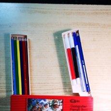 Estilográficas antiguas, bolígrafos y plumas: ESTUCHE PLUMIER AUTOMATICO ORDENADOR. Lote 268297979