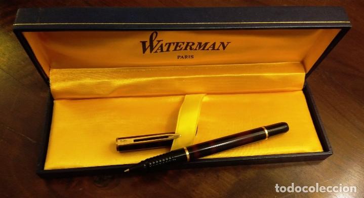 Estilográficas antiguas, bolígrafos y plumas: SET DE ESCRITURA COMPLETO MARCA WATERMAN (PARIS) - Foto 6 - 179113588