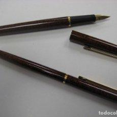 Estilográficas antiguas, bolígrafos y plumas: SET PLUMA Y BOLÍGRAFO INOXCROM AÑOS 80. Lote 179947213
