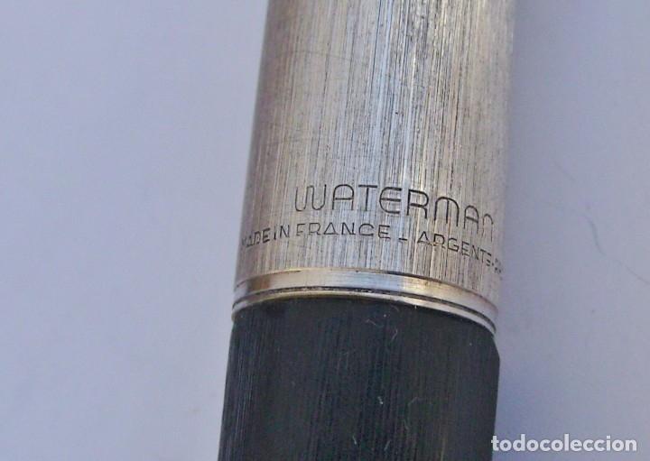 Estilográficas antiguas, bolígrafos y plumas: WATERMAN - Conjunto Bolígrafo y Pluma con plumín original de oro 18kt + recambios - Foto 4 - 180124763