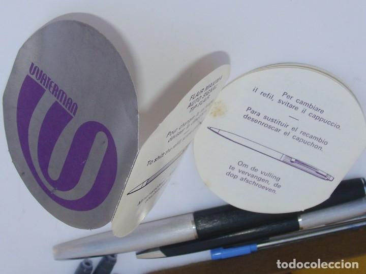 Estilográficas antiguas, bolígrafos y plumas: WATERMAN - Conjunto Bolígrafo y Pluma con plumín original de oro 18kt + recambios - Foto 6 - 180124763
