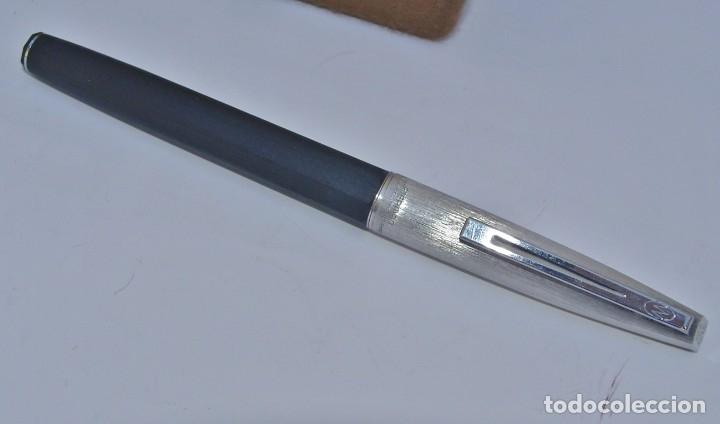 Estilográficas antiguas, bolígrafos y plumas: WATERMAN - Conjunto Bolígrafo y Pluma con plumín original de oro 18kt + recambios - Foto 7 - 180124763