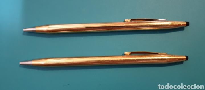 Estilográficas antiguas, bolígrafos y plumas: Dos bolígrafos Cross gold 14kt Classic - Foto 5 - 180193557
